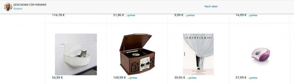 Geschenke für Männer bei Amazon ;-)