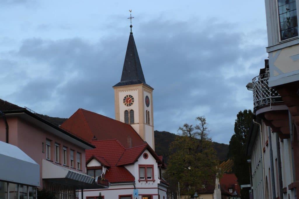 Evangelische Kirche Schriesheim mit Affinity bearbeitet