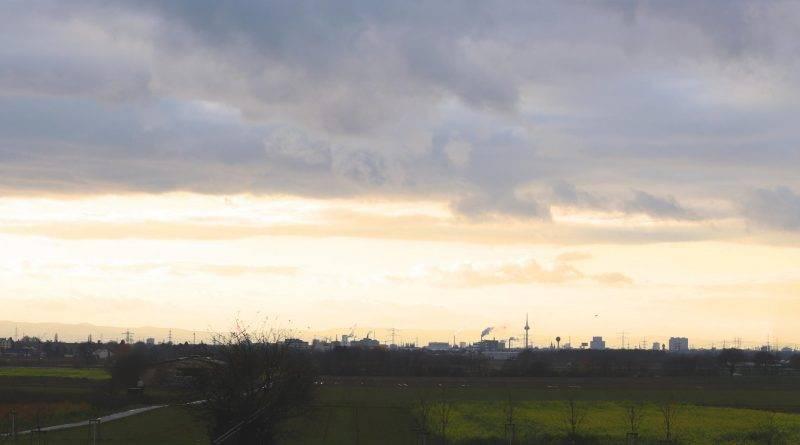 Panorama Schriesheim Blick nach Mannheim 1