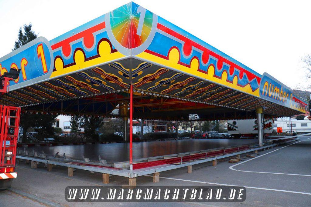 Mathaisemarkt Aufbau 2018