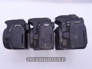 Canon Eos 200D, 77D und 80D Body Größen im Vergleich