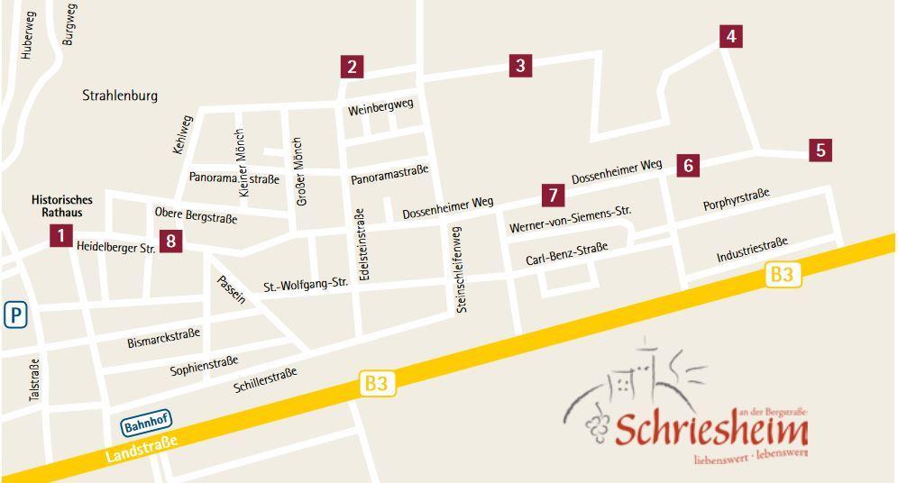 Karte Rotweinwanderung 2019