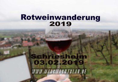 Rotweinwanderung 3. Februar 2019 – 🍷