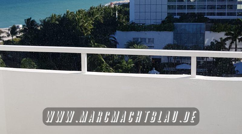 Hotelzimmer Miami Balkon mit Meerblick