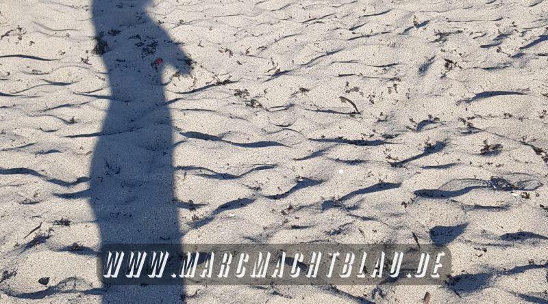 Strand Schattenbild