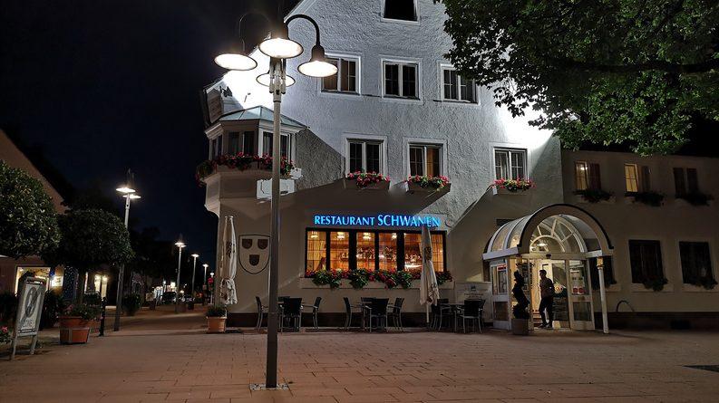 Hotel Schwanen Freudenstadt im Dunkeln