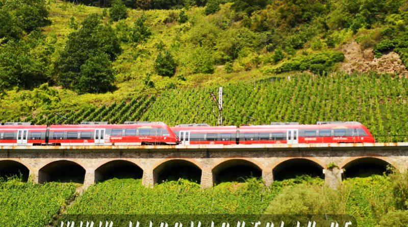 Bahnviadukt an der Mosel