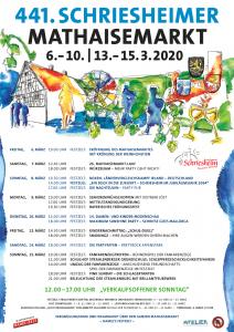 Mathaisemarkt Schriesheim 2020 Veranstaltungsplan Programm